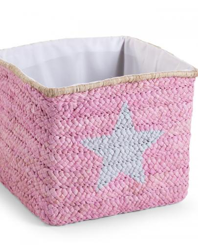 Childhome - Pudełko plecione 30x33x33 star&cloud róż - Esy Floresy