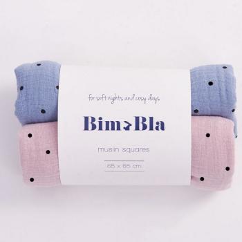 bim-bla-zestaw-pieluszek-muslinowych-w-kropeczki-rozowo-niebieski