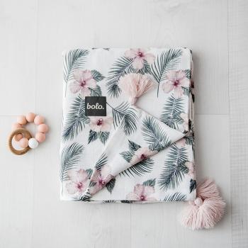 bolo-muslinowy-kocyk-kwiaty-75x95