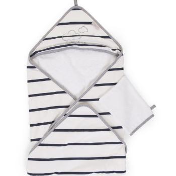Childhome - Ręcznik z kapturkiem + myjka Jersey Marin | Esy Floresy