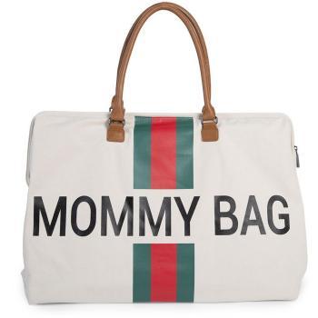 childhome-torba-podrozna-mommy-bag-paski-zielono-czerwone