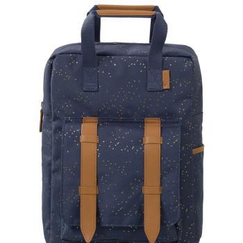 fresk-duzy-plecak-zlote-kropki-indigo