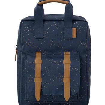 fresk-plecak-zlote-kropki-indigo