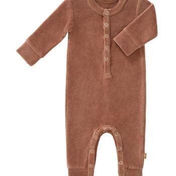 fresk-rampers-welurowy-0-3-miesiecy-tawny-brown