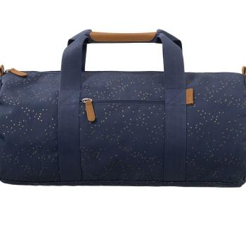 fresk-torba-weekend-bag-zlote-kropki-indigo