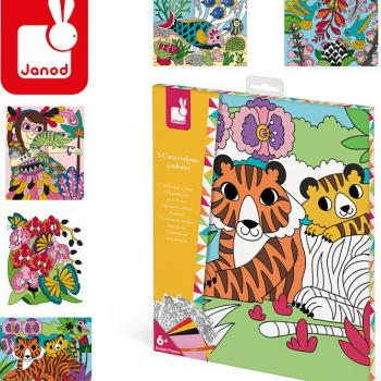 janod-zestaw-kreatywny-aksamitne-karty-tropikalna-dzungla