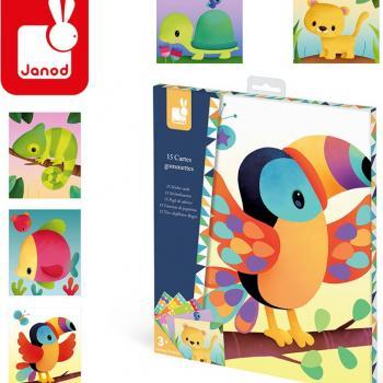 janod-zestaw-kreatywny-karty-z-naklejkami-zwierzeta-swiata