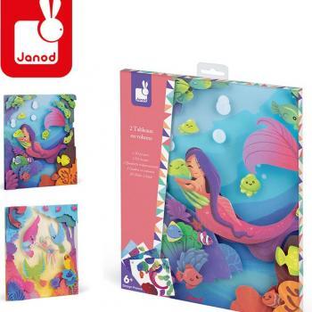 janod-zestaw-kreatywny-magiczne-obrazki-3d-syrenka-i-elfka