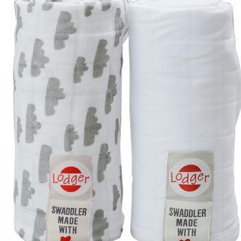 lodger-pieluszki-2-pack-swaddler-greywhite